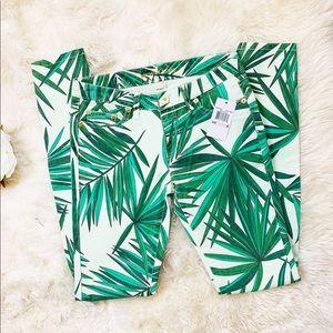 Michael Kors | Kelly green palm skinny jeans
